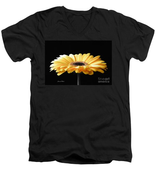 Golden Gerbera Daisy No 2 Men's V-Neck T-Shirt