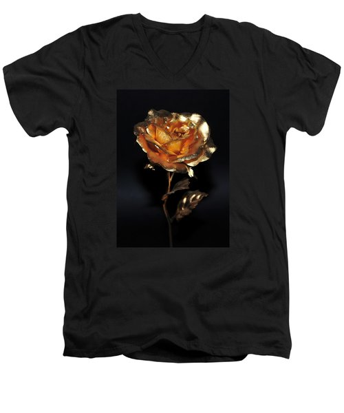 Golden Rose Men's V-Neck T-Shirt