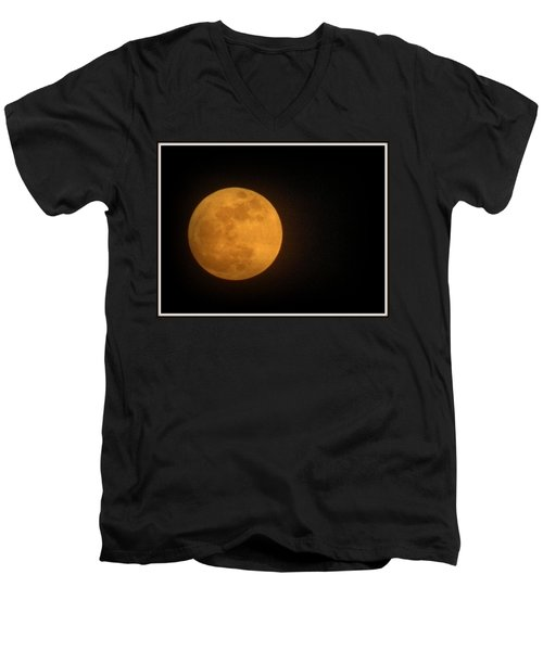 Golden Super Moon Men's V-Neck T-Shirt