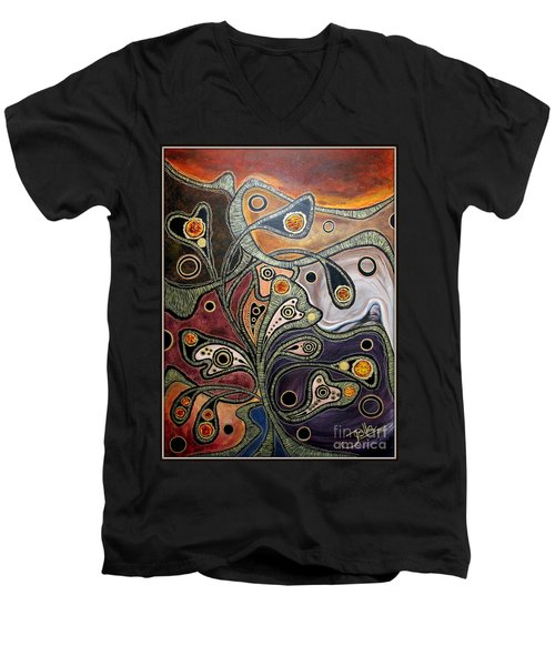 Golden Thought Men's V-Neck T-Shirt
