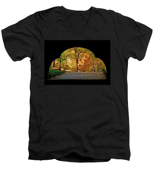 Golden Underpass Men's V-Neck T-Shirt