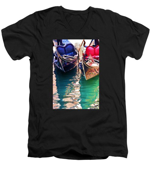 Gondola Love Men's V-Neck T-Shirt by Brian Davis