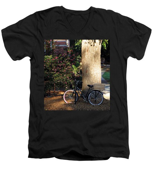 Men's V-Neck T-Shirt featuring the photograph Gone To Class by Greg Simmons