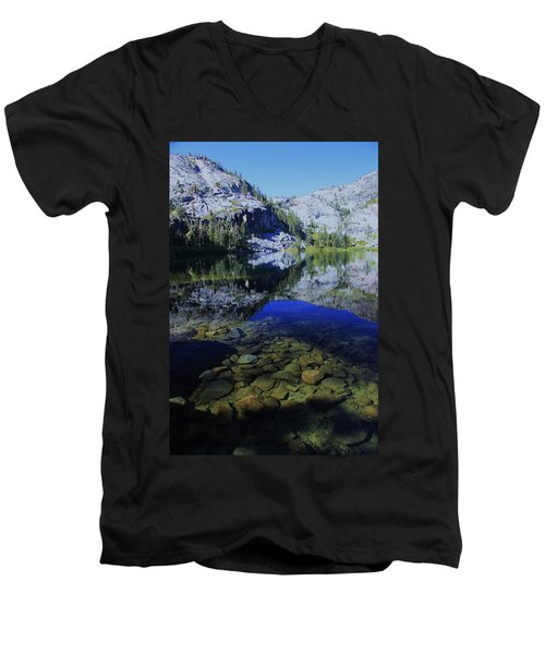 Good Morning Eagle Lake Men's V-Neck T-Shirt