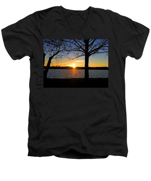 Good Night Potomac River Men's V-Neck T-Shirt by Emmy Marie Vickers