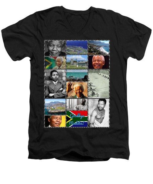 Goodbye Madiba Men's V-Neck T-Shirt