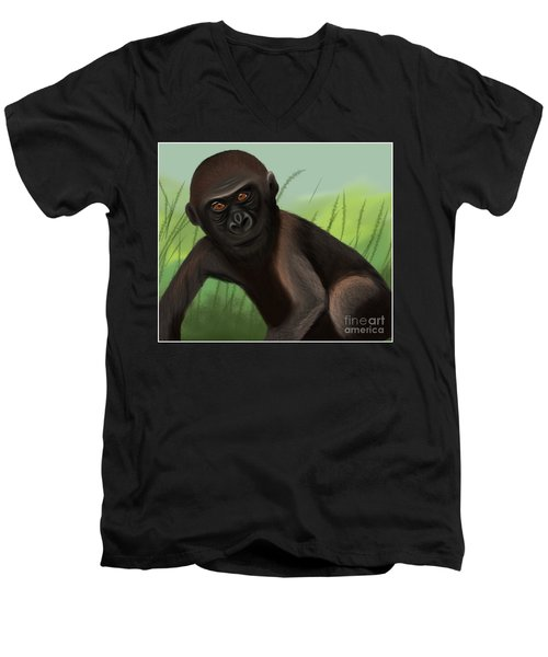 Gorilla Greatness Men's V-Neck T-Shirt
