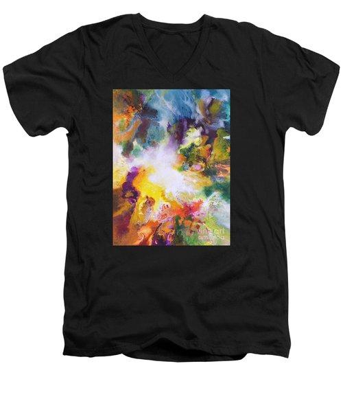 Gossamer Men's V-Neck T-Shirt by Sally Trace