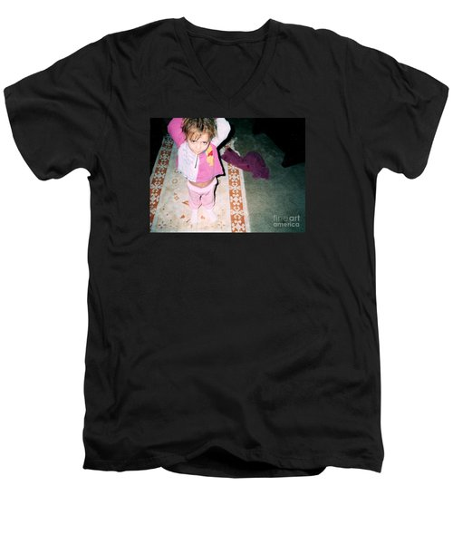 Men's V-Neck T-Shirt featuring the photograph Got A Light by Kelly Awad