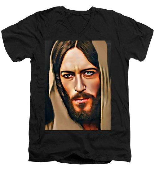 Got Jesus? Men's V-Neck T-Shirt by Karen Showell