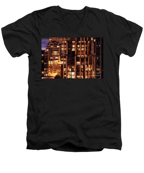 Men's V-Neck T-Shirt featuring the photograph Gothic Living - Yaletown Ccclxxx by Amyn Nasser