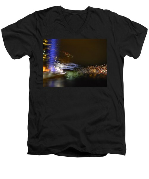 G.r. Grand River Dazzling Lights Men's V-Neck T-Shirt by Mark Minier
