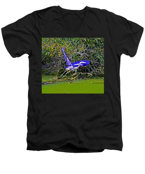 Gr8 Heron Flight Men's V-Neck T-Shirt