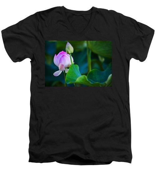 Graceful Lotus. Pamplemousses Botanical Garden. Mauritius Men's V-Neck T-Shirt