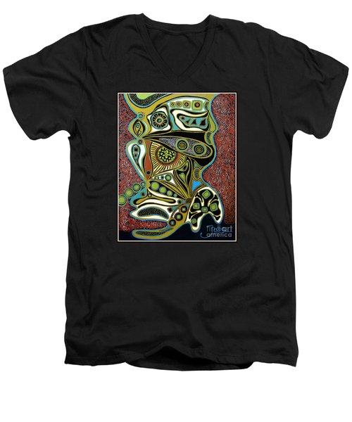 Grain De Folie.. Men's V-Neck T-Shirt by Jolanta Anna Karolska