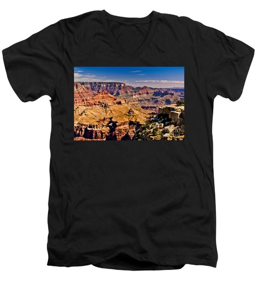 Grand Canyon Painting Men's V-Neck T-Shirt