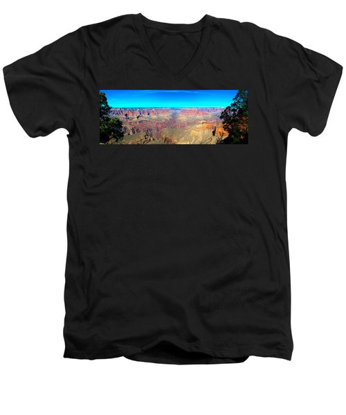Grand Canyon Panorama Men's V-Neck T-Shirt