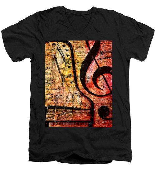 Grand Fathers Men's V-Neck T-Shirt by Gary Bodnar
