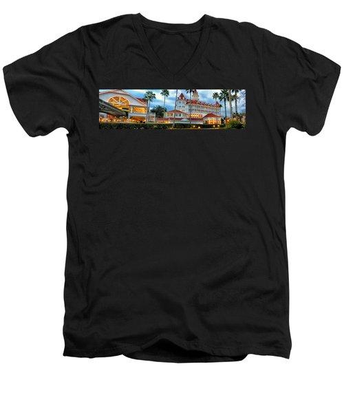 Grand Floridian Resort Walt Disney World Men's V-Neck T-Shirt