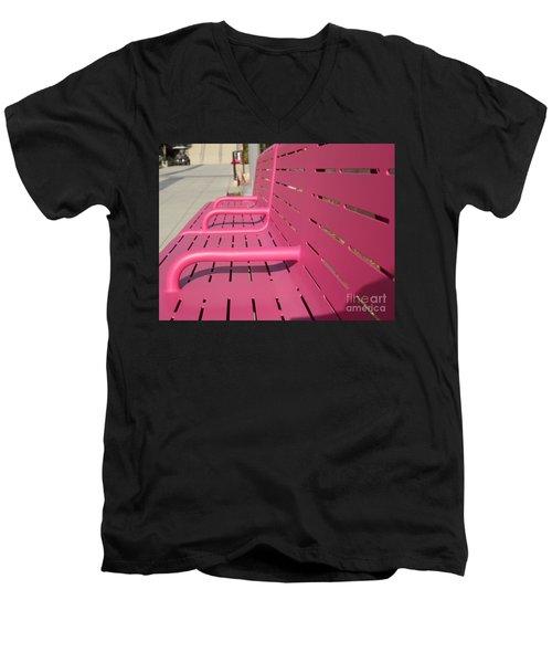 Grand Park Pink Men's V-Neck T-Shirt