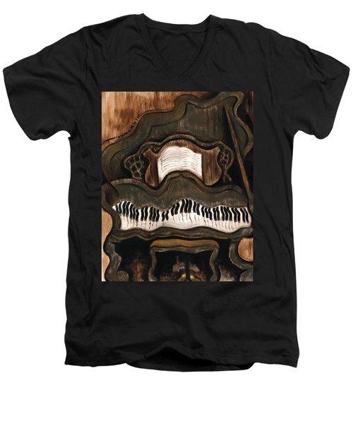 Tommervik Abstract Grand Piano Art Print Men's V-Neck T-Shirt