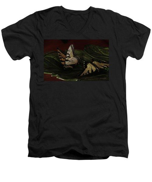 Grandma's Attic Men's V-Neck T-Shirt by Yvonne Wright