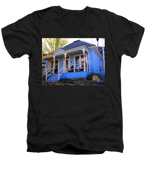 Men's V-Neck T-Shirt featuring the photograph Grandma's House by Jackie Carpenter