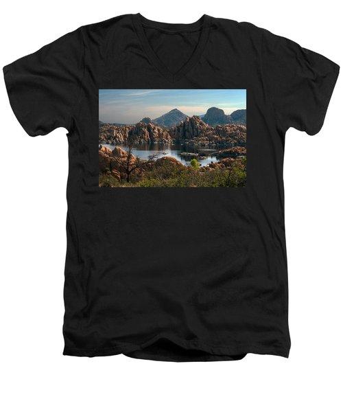 Granite Dells At Watson Lake Men's V-Neck T-Shirt
