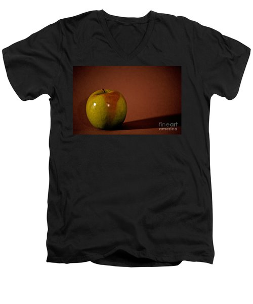 Men's V-Neck T-Shirt featuring the photograph Granny Smith by Sharon Elliott