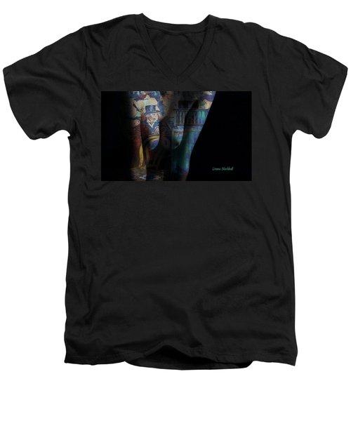 Graphic Artist Men's V-Neck T-Shirt by Donna Blackhall