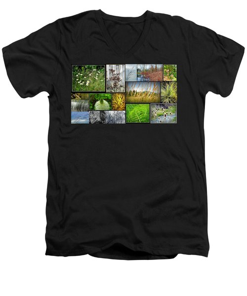 Grass Collage Variety Men's V-Neck T-Shirt by Tikvah's Hope