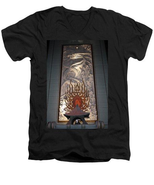 Grauman's Artwork Men's V-Neck T-Shirt by David Nicholls