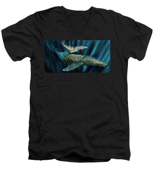 Graywhale Momma And Calf Men's V-Neck T-Shirt