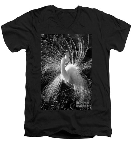 Men's V-Neck T-Shirt featuring the photograph Plumes In The Wind by John F Tsumas
