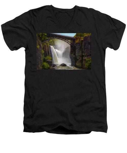 Great Falls Mist Men's V-Neck T-Shirt