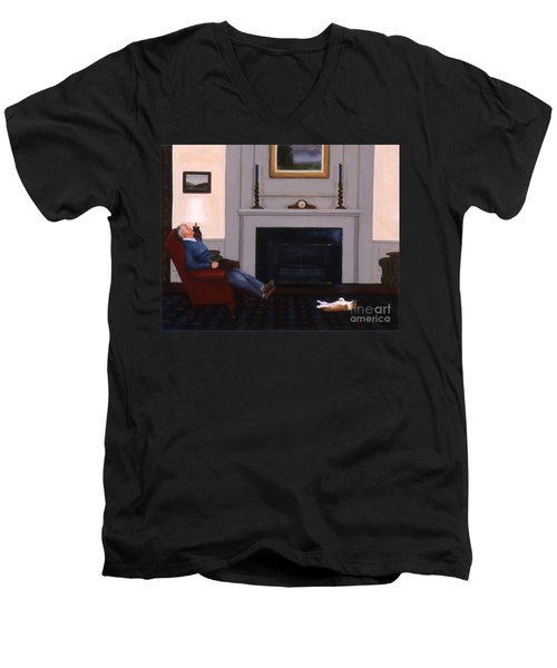 Great Minds Think Alike Men's V-Neck T-Shirt