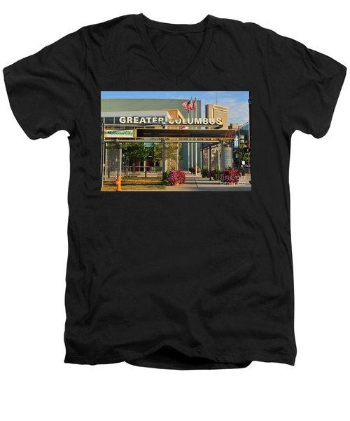 D8l-245 Greater Columbus Convention Center Photo Men's V-Neck T-Shirt