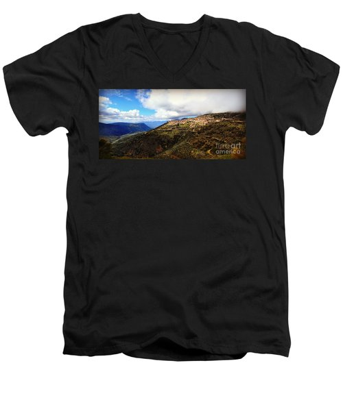 Greece Countryside Men's V-Neck T-Shirt