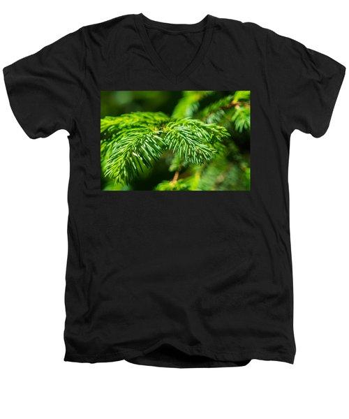 Green Christmas Tree 2 Men's V-Neck T-Shirt