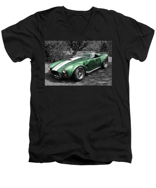 Green Cobra Men's V-Neck T-Shirt