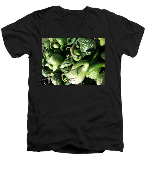 Green Goosenecks Men's V-Neck T-Shirt