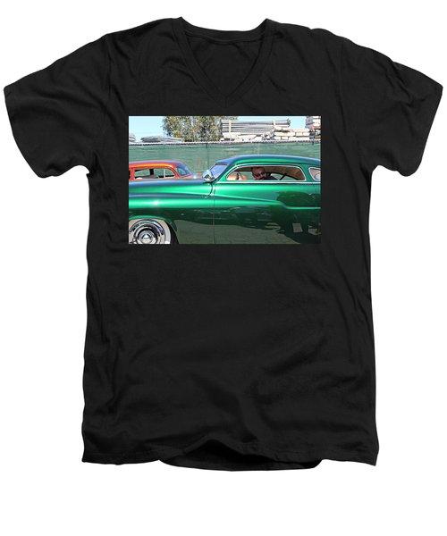Green Merc Men's V-Neck T-Shirt