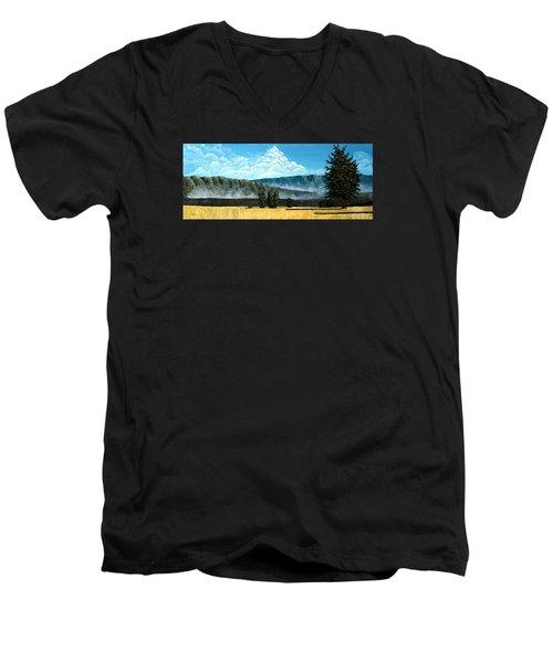 Green Mist Men's V-Neck T-Shirt