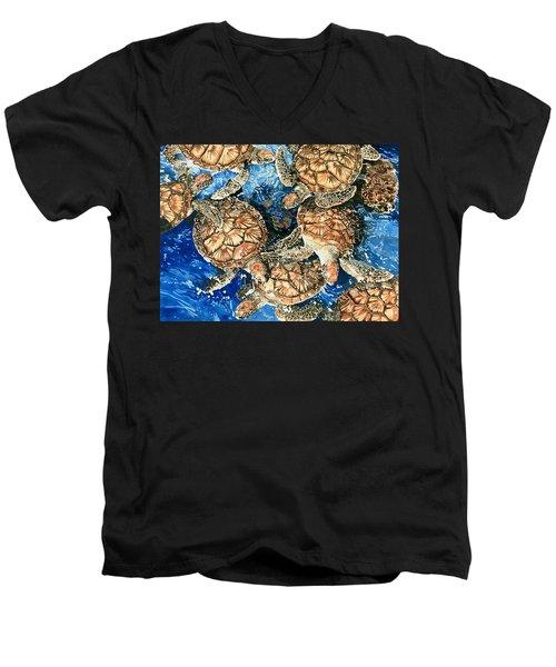 Green Sea Turtles Men's V-Neck T-Shirt