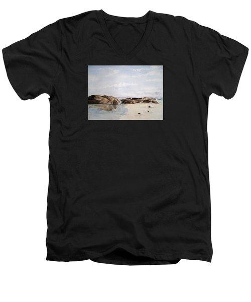 Greens Pool Western Australia Men's V-Neck T-Shirt by Elvira Ingram