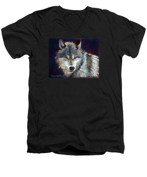Grizzer Men's V-Neck T-Shirt by Susan Woodward
