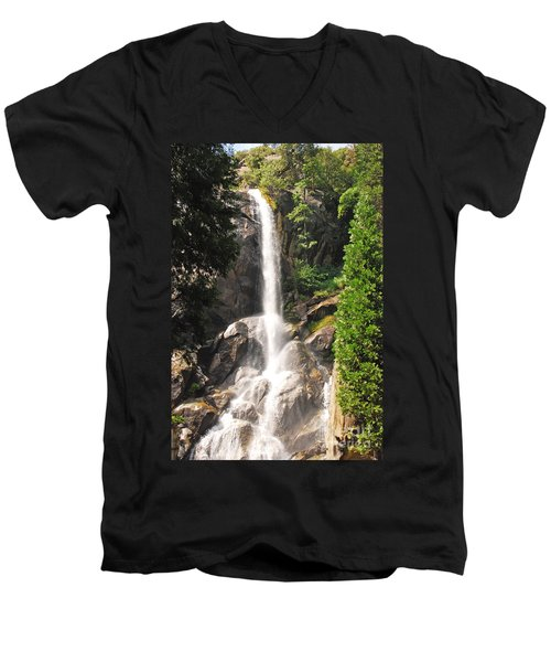 Men's V-Neck T-Shirt featuring the photograph Grizzly Falls by Mary Carol Story