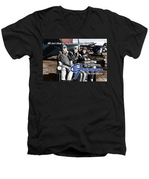 Grumman Test Pilots Men's V-Neck T-Shirt