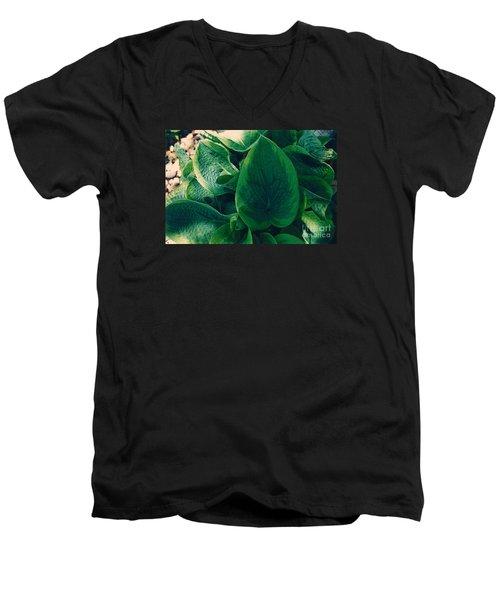 Guacamole Hosta Men's V-Neck T-Shirt