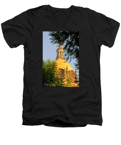 Men's V-Neck T-Shirt featuring the photograph The Grand Cathedral Of Guadalajara, Mexico - By Travel Photographer David Perry Lawrence by David Perry Lawrence